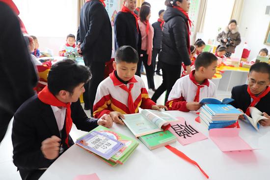 海尔感恩社会 爱心助学图书图书捐赠走进长清区双泉镇柳杭小学